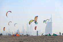 Kite Surf Kites Flying Over Ju...