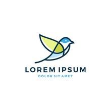 Bird Leaf Logo Vector