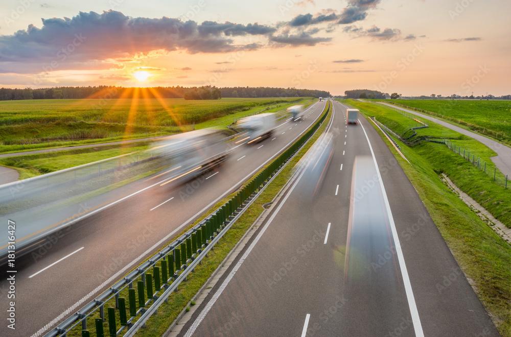 Fototapeta Traffic on the highway