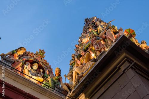 Photo  The gopuram (entrance tower) of Sri Mariamman Temple, Singapore.