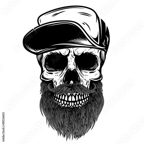 czaszka-z-broda-w-czapce-baseballowej
