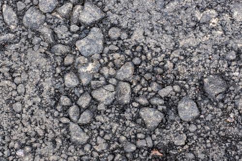 In de dag Stenen The old ruined asphalt pavement background texture