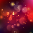 Abstract pink and orange bokeh on indigo blue background. EPS 10 vector