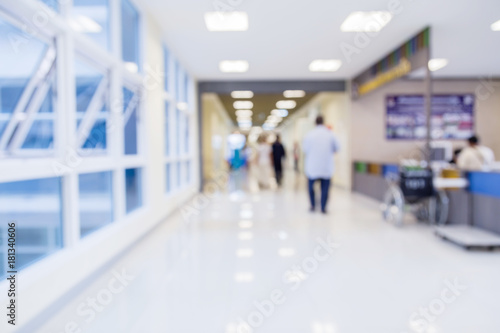 Fotografie, Obraz  blur image background  of corridor in hospital or clinic image