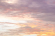 Dramatic sunset and sunrise sky with beautiful and colorful nice soft cloud background concept.