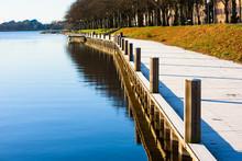 Lakeside Promenade On Sunny Fa...