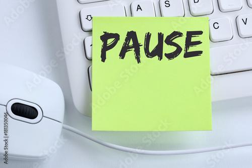 Pause Mittagspause Erholung Arbeit Business Konzept Maus Fototapete