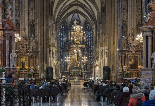 Fotografie, Obraz  Holy mass in St. Stephen's Cathedral in Vienna, Austria
