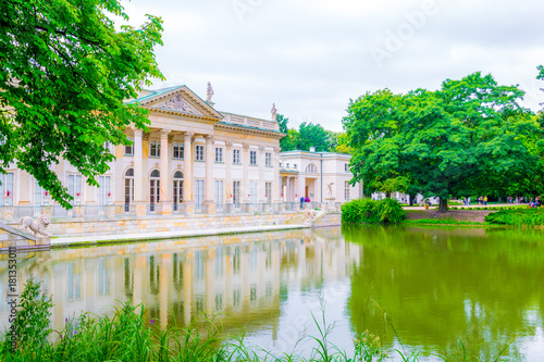 The Palace On The Water Also Called Lazienki Palace Or