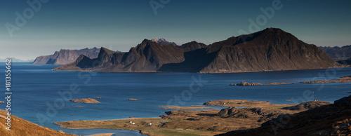Staande foto Oceanië Panorama of the Lofoten mountain range
