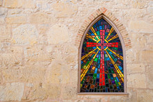 Gothic Style Church Window Wit...