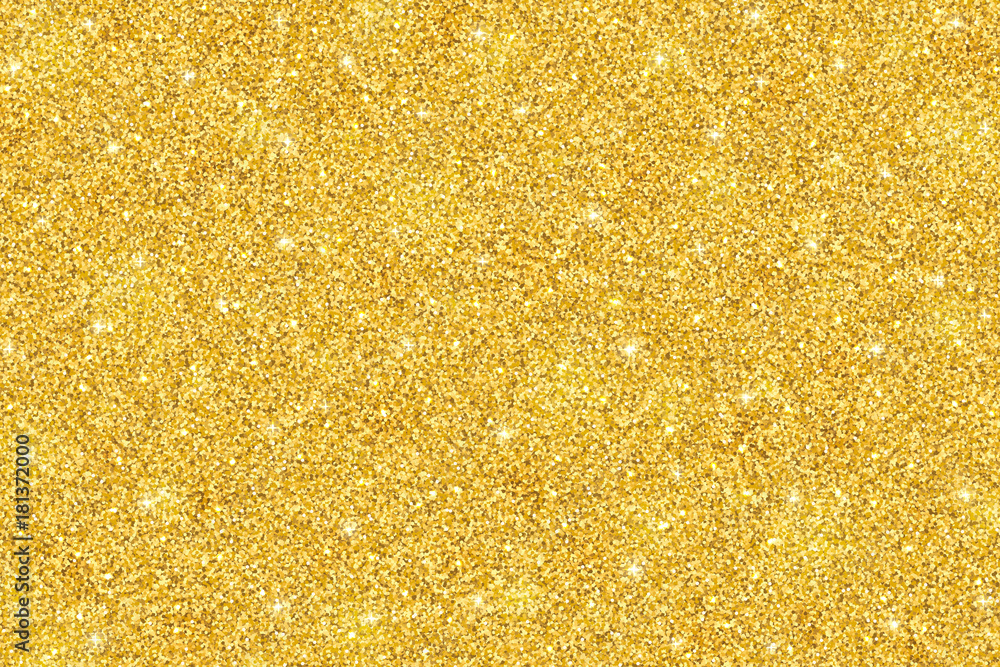 Fototapety, obrazy: Gold glitter festive background, horizontal texture