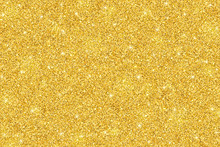 Gold Glitter Festive Background, Horizontal Texture