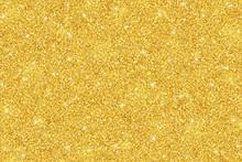 Gold Glitter Festive Backgroun...