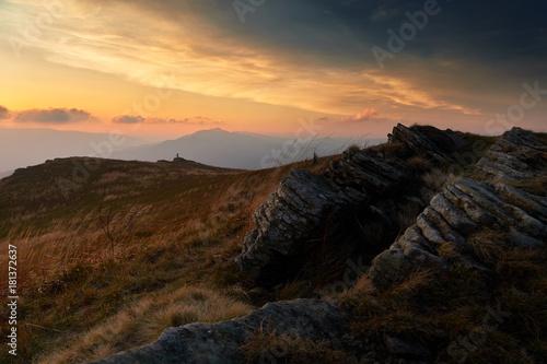 Bieszczady jesienią, Bieszczady Mountains in autumn - 181372637