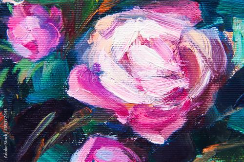 faktura obrazu olejnego, kolor Malowany obraz, farba, płótno artysty,