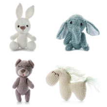 Set Of Cute Toys On White Back...