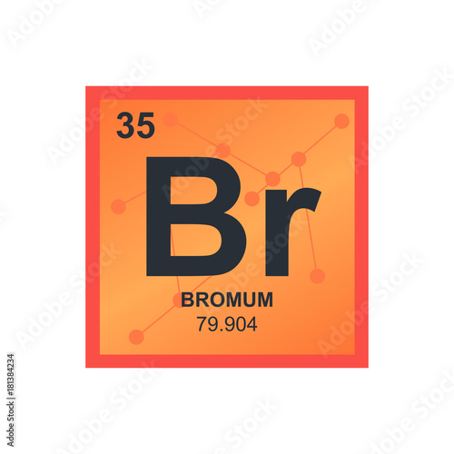 Vector Symbol Of Bromine From The Periodic Table Of The Elements On