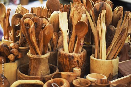 Vászonkép Posate legno