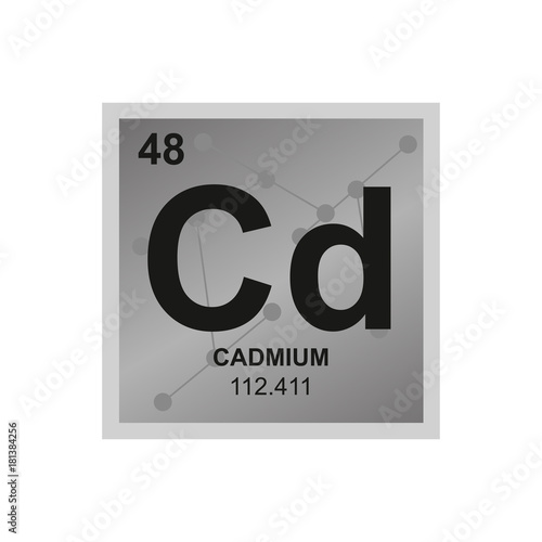 Vector Symbol Of Cadmium From The Periodic Table Of The Elements On