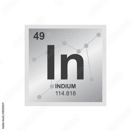 Vector symbol of indium from the periodic table of the elements on vector symbol of indium from the periodic table of the elements on the background from connected urtaz Image collections
