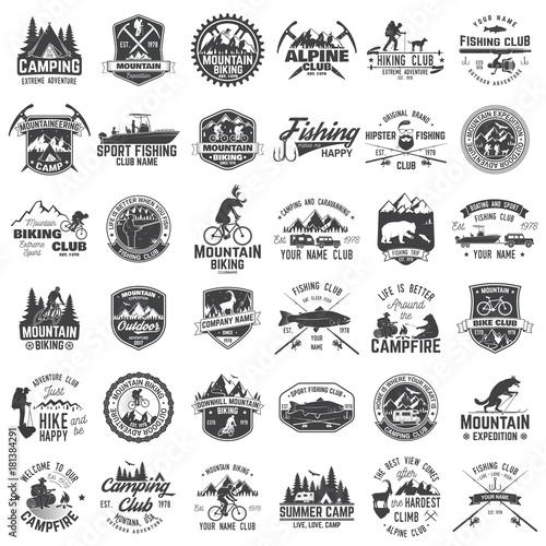 Photo Set of extreme adventure badges