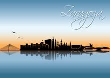 Zaragoza, Saragossa Skyline - ...