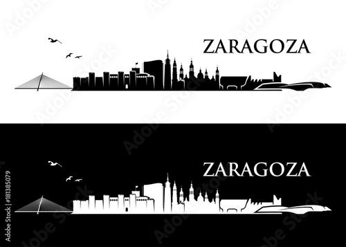 Zaragoza, Saragossa skyline - Spain