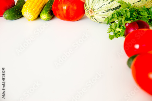 Printed kitchen splashbacks Fresh vegetables Different fresh vegetables