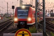 Sbahn Train In The Evening