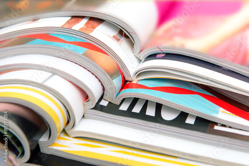 Fotomural  Stack of magazines