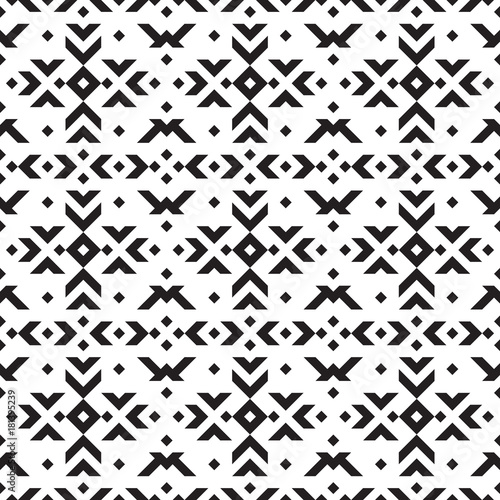 Photo sur Aluminium Style Boho Tribal geometric seamless pattern.
