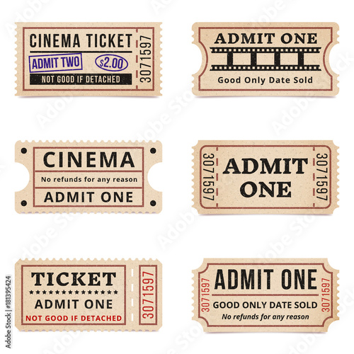 Fotografie, Obraz  Vintage tickets and coupons