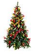 Рождественская елка на белом фоне
