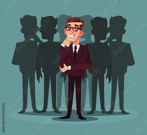 Fototapety, obrazy: Business recruitment. Vector cartoon illustration