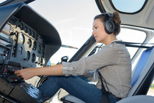 Confident Pilot With Headset I...
