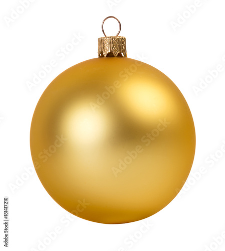 Gold christmas ball Canvas Print