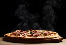 Hot Big Pepperoni Pizza Tasty ...