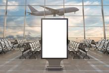 Airport Departure Lounge. Blan...