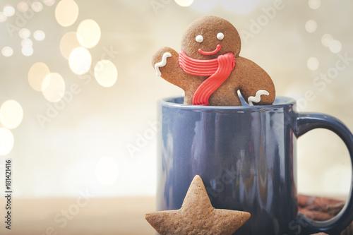 Valokuva Christmas Cookies with Mug