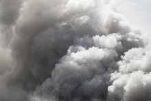 Bomb Smoke Background, Smoke Caused By Explosions, White Smoke Like Clouds Background.