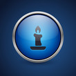 Push Button - Dark Blue Web Icon