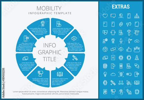Mobility Infographic Template Elements And Icons Infograph