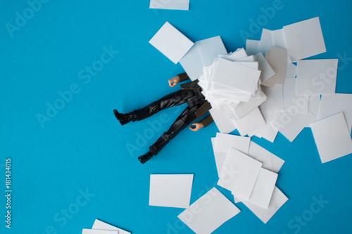 Fotografía  Concept, people swamped with paperwork