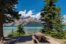 Beautiful Bow Lake With Picnic...