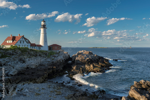 Zdjęcie XXL Kierowniczy Portland światło w przylądku Elizabeth, Maine, usa.