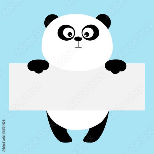 Funny panda bear hanging on paper board template big eyes kawaii funny panda bear hanging on paper board template big eyes kawaii animal body maxwellsz