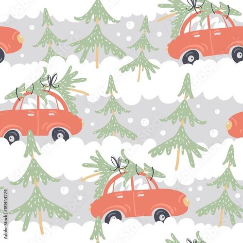 samochody-choinki-w-lesie