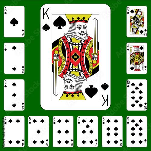 Vászonkép Playing cards suit spades .
