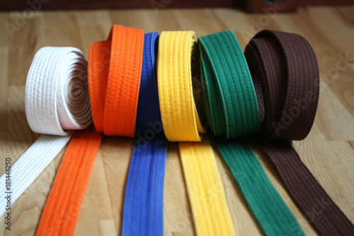 Foto op Aluminium Vechtsport Martial Arts Colorful Karate Belt